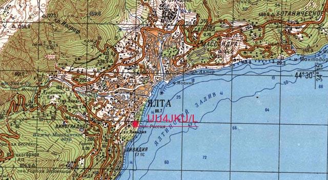 карта окрестностей ялты